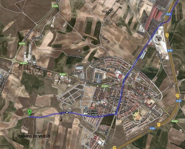 Plano de acceso Torrejon de la Calzada